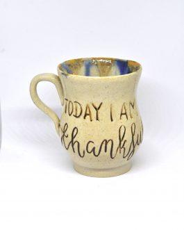 """Ceramiczny Kubek Z Kaligrafią 250 ml """"Today I am thankful"""""""