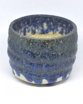 Porowata, Kobaltowa Doniczka Ceramiczna