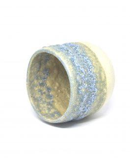 Porowata, Błękitna Doniczka Ceramiczna