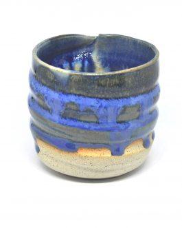Zakręcona Kobaltowa Doniczka Ceramiczna