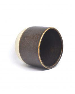 Ceramiczna Czarka Z Czekoladowym Szkliwieniem 150 ml