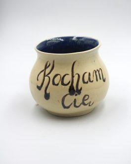 """Ceramiczna Czarka Z Kaligrafią 300 ml """"Kocham Cię"""" z Magicznym środkiem"""