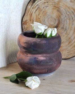 Ceramiczny Wazon Raku Copper Matt