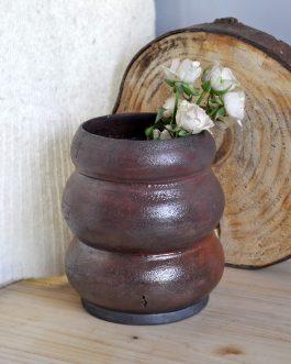 Ceramiczny Rdzawy Wazon Raku